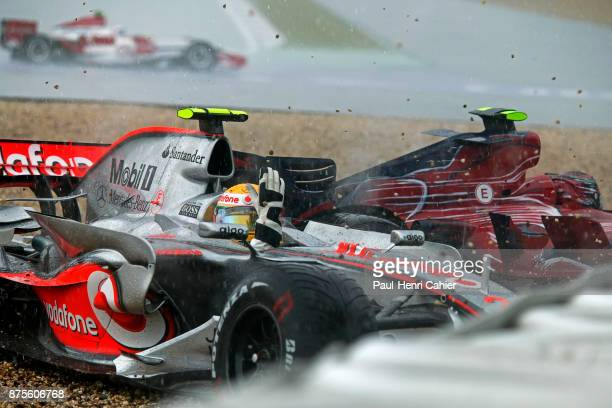 Lewis Hamilton, McLaren-Mercedes MP4-22, Grand Prix of Europe, Nurburgring, 22 July 2007. Lewis Hamiton was involved in a first corner accident and...