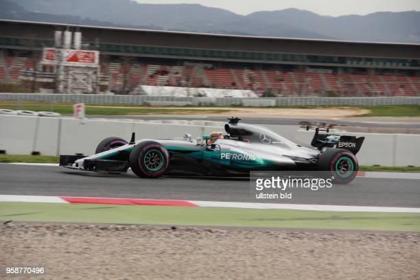 Lewis Hamilton; Mercedes Grand Prix, formula 1 GP, Test Barcelona, Spanien,