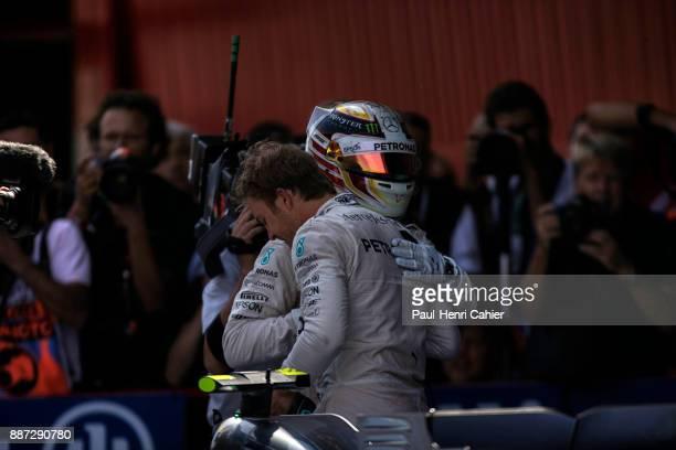 Lewis Hamilton Nico Rosberg Grand Prix of Spain Circuit de BarcelonaCatalunya 10 May 2015 Lewis Hamilton congratulates Nico Rosberg after his victory...