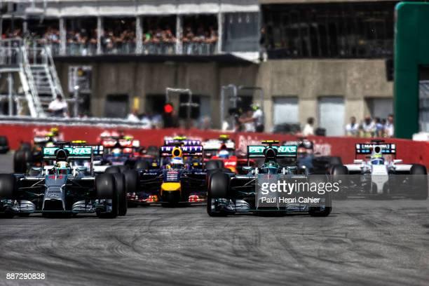 Lewis Hamilton Nico Rosberg Mercedes F1 W05Hybrid Grand Prix of Canada Circuit Gilles Villeneuve 08 June 2014 Pole position man Nico Rosberg and...
