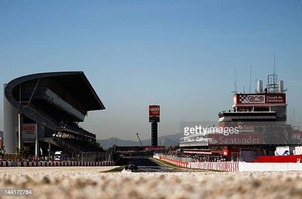 Lewis Hamilton of Great Britain and McLaren drives during practice for the Spanish Formula One Grand Prix at the Circuit de Catalunya on May 11, 2012...