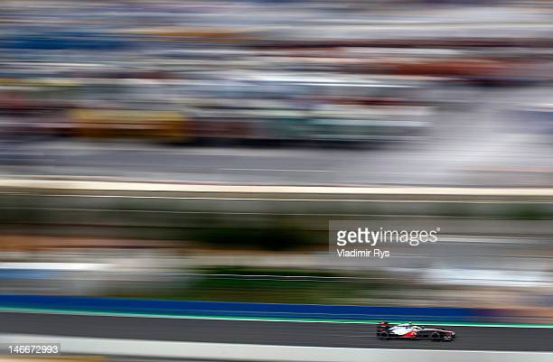 Lewis Hamilton of Great Britain and McLaren drives during practice for the European Grand Prix at the Valencia Street Circuit on June 22, 2012 in...