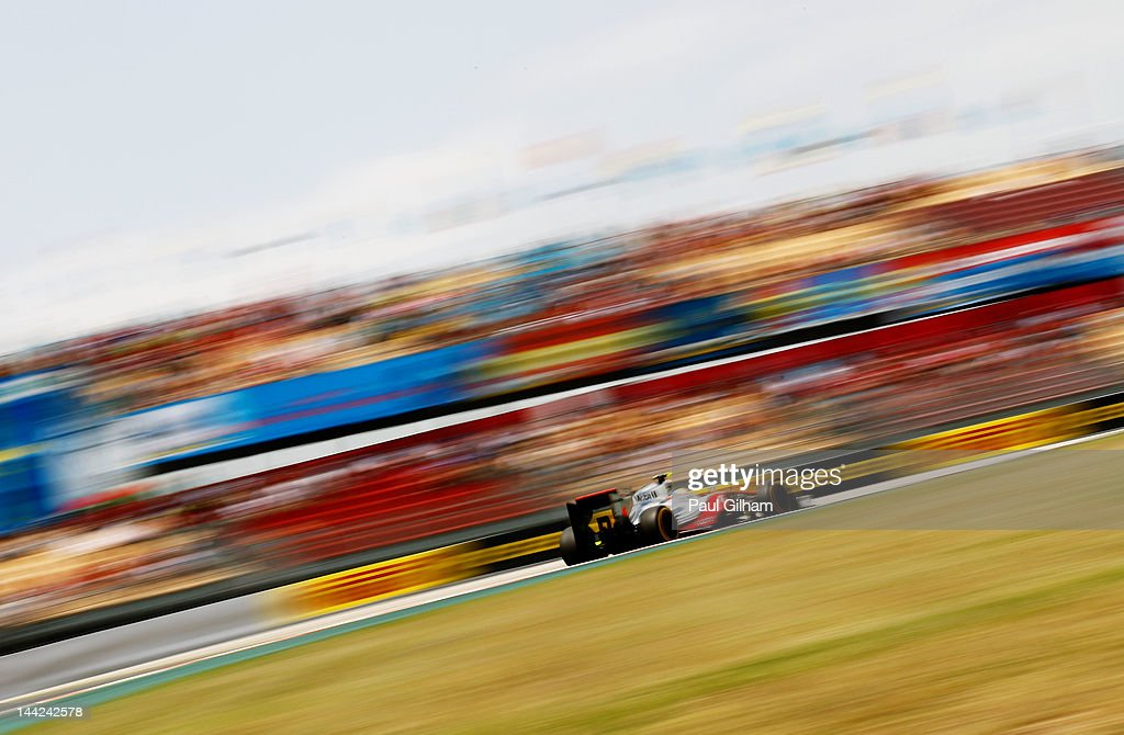 Lewis Hamilton of Great Britain and McLaren drives during qualifying for the Spanish Formula One Grand Prix at the Circuit de Catalunya on May 12, 2012 in Barcelona, Spain.