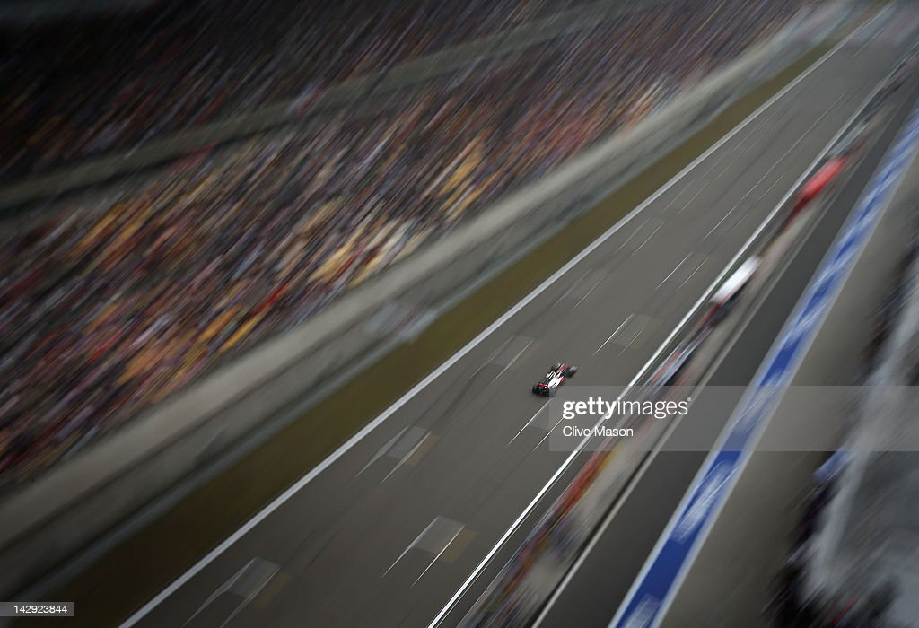 Lewis Hamilton of Great Britain and McLaren drives during the Chinese Formula One Grand Prix at the Shanghai International Circuit on April 15, 2012 in Shanghai, China.