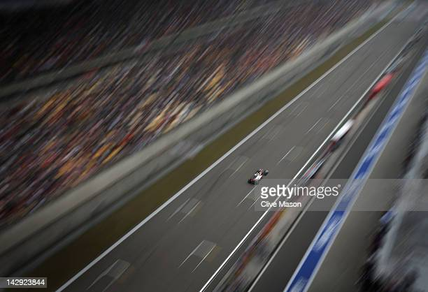 Lewis Hamilton of Great Britain and McLaren drives during the Chinese Formula One Grand Prix at the Shanghai International Circuit on April 15 2012...