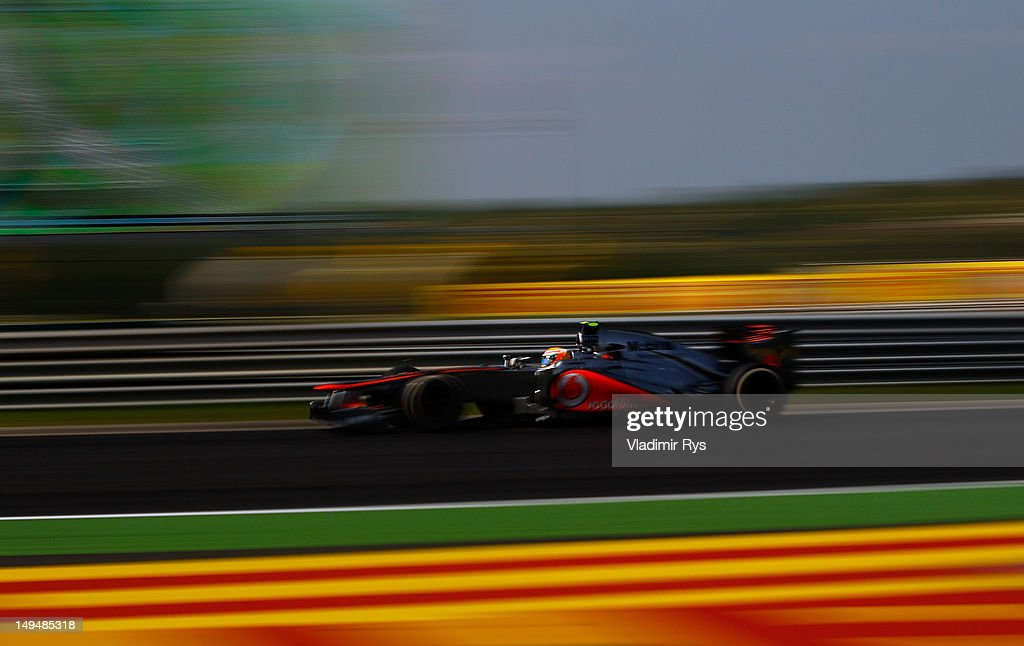 Lewis Hamilton of Great Britain and McLaren drives during the Hungarian Formula One Grand Prix at the Hungaroring on July 29, 2012 in Budapest, Hungary.