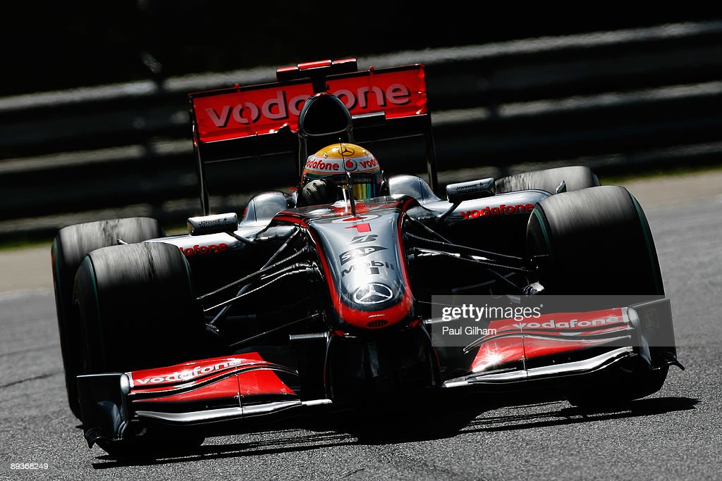Lewis Hamilton of Great Britain and McLaren Mercedes drives on his way to winning the Hungarian Formula One Grand Prix at the Hungaroring on July 26, 2009 in Budapest, Hungary.