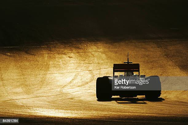 Lewis Hamilton of Great Britain and McLaren Mercedes drives the new McLaren MP4-24 during Formula One winter testing at the Autodromo Internacional...