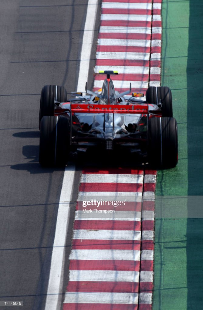 Lewis Hamilton of Great Britain and McLaren Mercedes in action during practice for the Canadian Formula One Grand Prix at the Circuit Gilles Villeneuve on June 8, 2007 in Montreal, Canada.