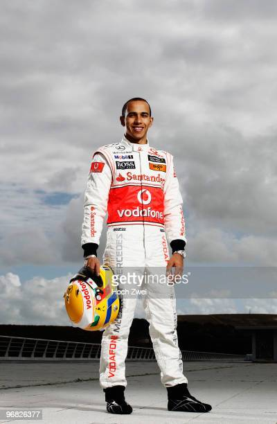 Lewis Hamilton of Great Britain and McLaren Mercedes poses for a portrait during winter testing at the Circuito De Jerez on February 8 2010 in Jerez...