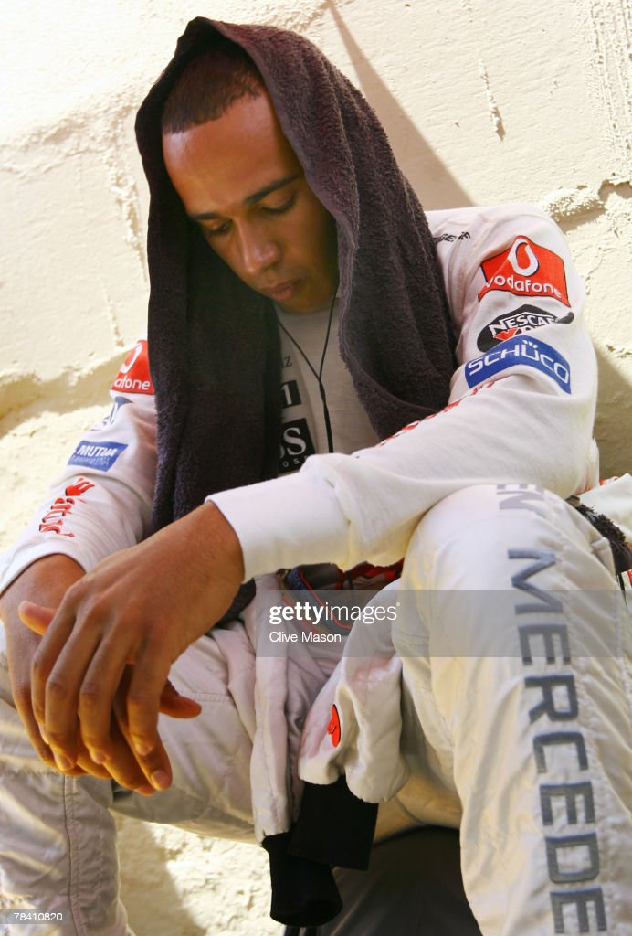 Lewis Hamilton of Great Britain and McLaren Mercedes prepares on the grid before driving in the Brazilian Formula One Grand Prix at the Autodromo Interlagos on October 21, 2007 in Sao Paulo, Brazil.