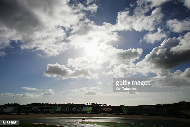 Lewis Hamilton of Great Britain and McLaren Mercedes test drives the new McLaren MP4-24 during Formula One winter testing at the Autodromo...