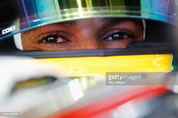 Lewis Hamilton of Great Britain and McLaren prepares to drive during the final practice session prior to qualifying for the Italian Formula One Grand...