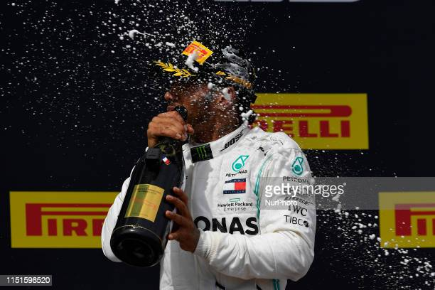 Lewis Hamilton of Great Britain and Mercedes AMG Petronas F1 Team Mercedes winner of the Pirelli GP de France 2019 at Circuit Paul Ricard on June 23...