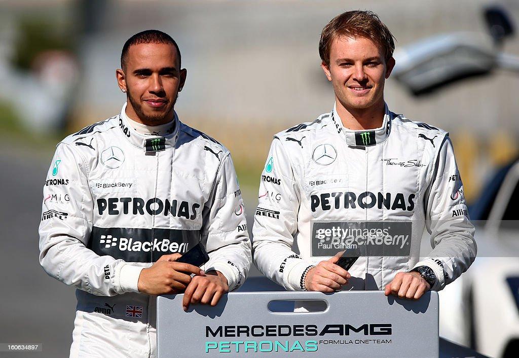 Mercedes GP F1  Launch : News Photo