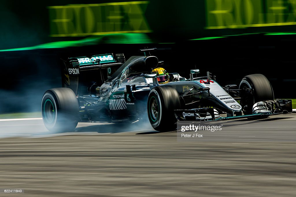 Lewis Hamilton of Great Britain and Mercedes during practice for the Formula One Grand Prix of Brazil at Autodromo Jose Carlos Pace on November 11, 2016 in Sao Paulo, Brazil.