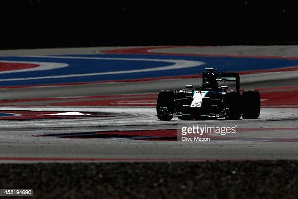 Lewis Hamilton of Great Britain and Mercedes GP drives during practice ahead of the United States Formula One Grand Prix at Circuit of The Americas...