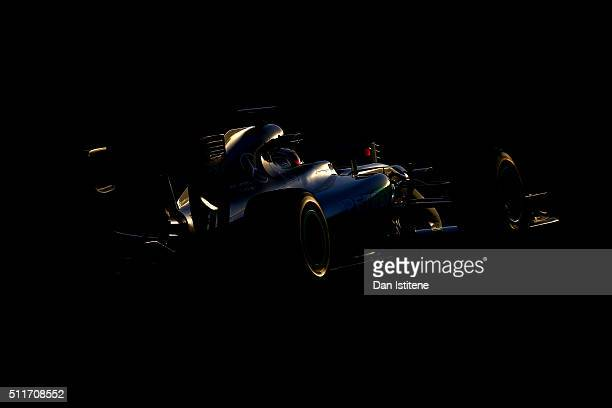 Lewis Hamilton of Great Britain and Mercedes GP drives during day one of F1 winter testing at Circuit de Catalunya on February 22, 2016 in Montmelo,...
