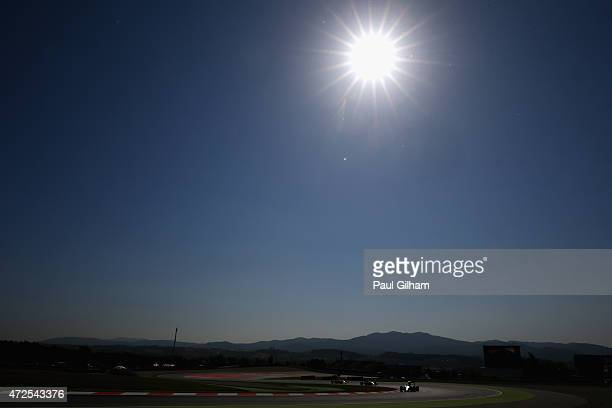 Lewis Hamilton of Great Britain and Mercedes GP drives during practice for the Spanish Formula One Grand Prix at Circuit de Catalunya on May 8, 2015...
