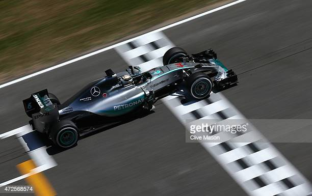 Lewis Hamilton of Great Britain and Mercedes GP drives during practice for the Spanish Formula One Grand Prix at Circuit de Catalunya on May 8 2015...