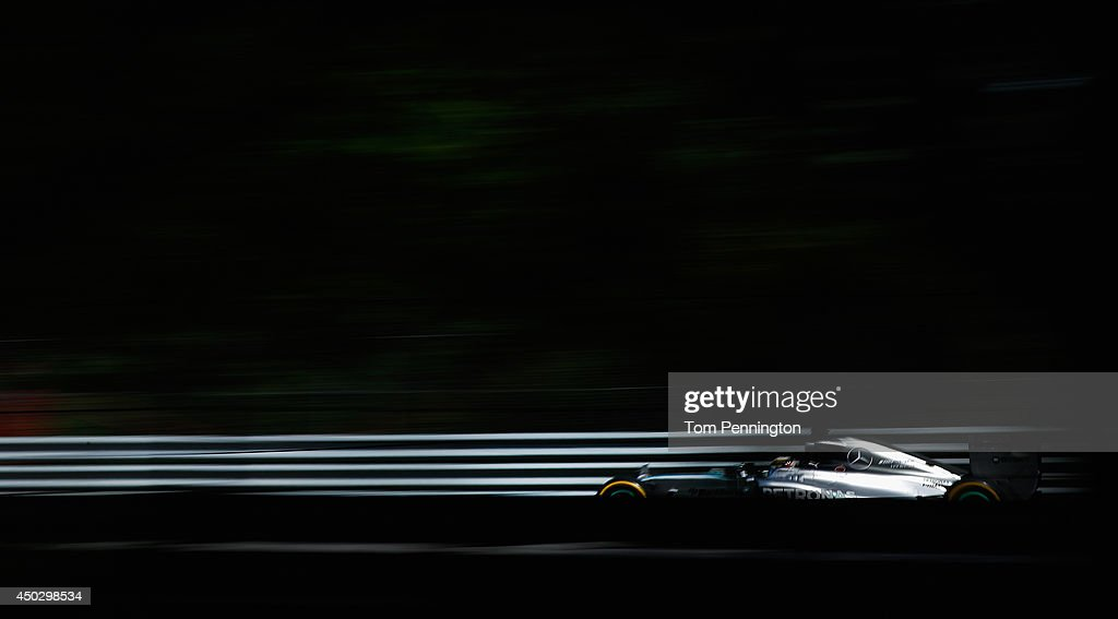 Lewis Hamilton of Great Britain and Mercedes GP drives during the Canadian Formula One Grand Prix at Circuit Gilles Villeneuve on June 8, 2014 in Montreal, Canada.