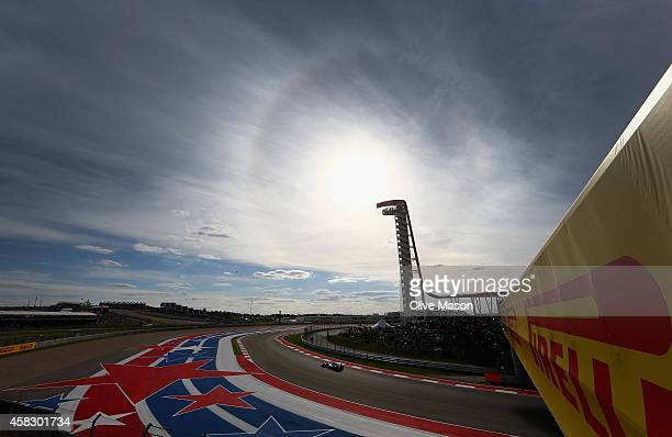 Lewis Hamilton of Great Britain and Mercedes GP drives during the United States Formula One Grand Prix at Circuit of The Americas on November 2 2014...