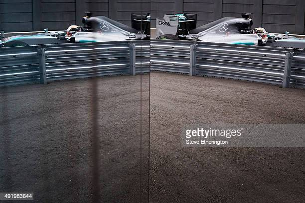 Lewis Hamilton of Great Britain and Mercedes GP enters the pit lane during practice for the Formula One Grand Prix of Russia at Sochi Autodrom on...