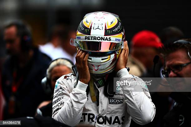Lewis Hamilton of Great Britain and Mercedes GP on the grid before the Formula One Grand Prix of Austria at Red Bull Ring on July 3 2016 in Spielberg...