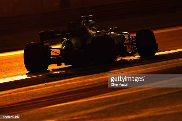 Lewis Hamilton of Great Britain and Mercedes GP on track during qualifying for the Abu Dhabi Formula One Grand Prix at Yas Marina Circuit on November...