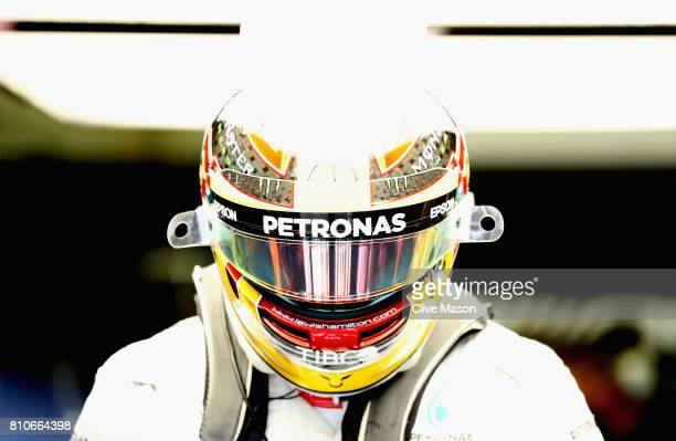 Lewis Hamilton of Great Britain and Mercedes GP prepares to drive during final practice for the Formula One Grand Prix of Austria at Red Bull Ring on...