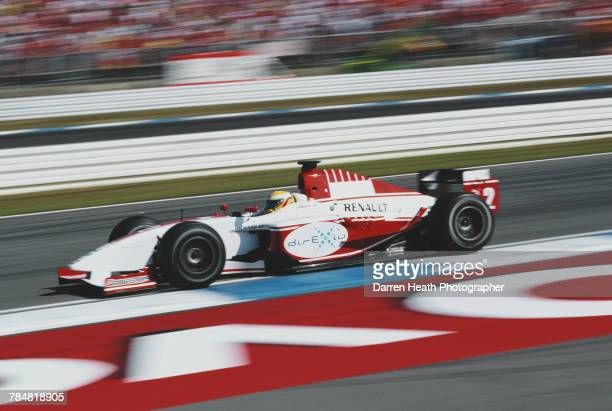 Lewis Hamilton of Great Britain drives the ART Grand Prix Dallara Mecachrome V8 during the GP2 Series German Grand Prix on 29 July 2006 at the...