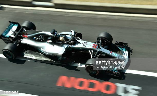 Lewis Hamilton of Great Britain driving a F1 Mercedes AMG Petronas Motorsport during practice for the British F1 Grand Prix at Silverstone Circuit on...