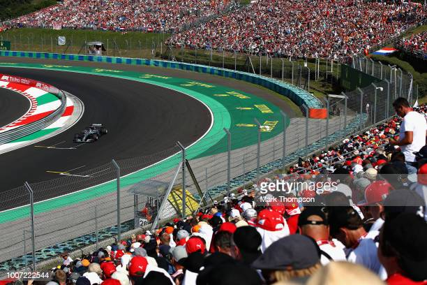 Lewis Hamilton of Great Britain driving the Mercedes AMG Petronas F1 Team Mercedes WO9 on track during the Formula One Grand Prix of Hungary at...