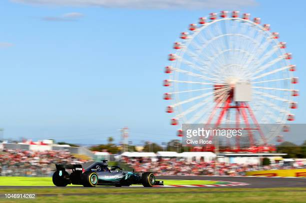 Lewis Hamilton of Great Britain driving the Mercedes AMG Petronas F1 Team Mercedes WO9 on track during the Formula One Grand Prix of Japan at Suzuka...