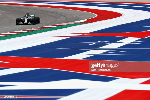 Lewis Hamilton of Great Britain driving the Mercedes AMG Petronas F1 Team Mercedes WO9 on track during qualifying for the United States Formula One...