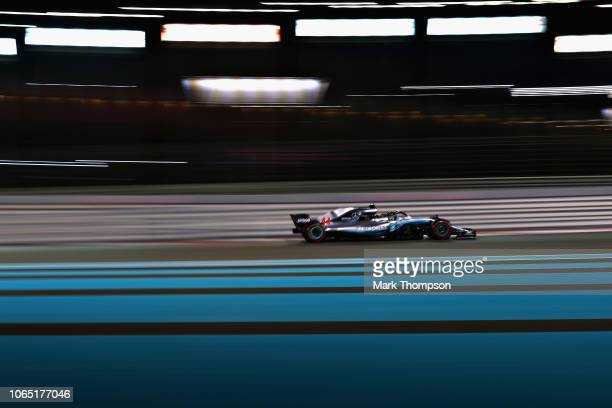 Lewis Hamilton of Great Britain driving the Mercedes AMG Petronas F1 Team Mercedes WO9 on track during the Abu Dhabi Formula One Grand Prix at Yas...