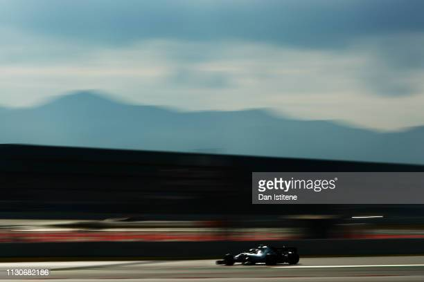 Lewis Hamilton of Great Britain driving the Mercedes AMG Petronas F1 Team Mercedes W10 on track during day two of F1 Winter Testing at Circuit de...