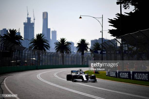 Lewis Hamilton of Great Britain driving the Mercedes AMG Petronas F1 Team Mercedes W10 on track during final practice for the F1 Grand Prix of...