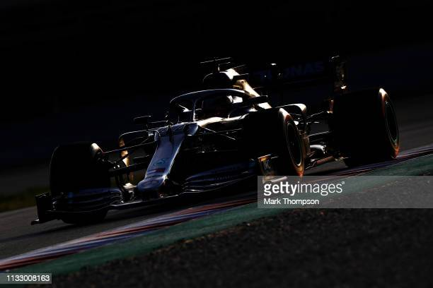 Lewis Hamilton of Great Britain driving the Mercedes AMG Petronas F1 Team Mercedes W10 on track during day four of F1 Winter Testing at Circuit de...