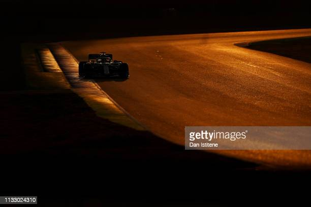 Lewis Hamilton of Great Britain driving the Mercedes AMG Petronas F1 Team Mercedes W10 during day four of F1 Winter Testing at Circuit de Catalunya...