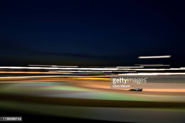 Lewis Hamilton of Great Britain driving the Mercedes AMG Petronas F1 Team Mercedes W10 on track during practice for the F1 Grand Prix of Bahrain at...