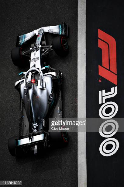 Lewis Hamilton of Great Britain driving the Mercedes AMG Petronas F1 Team Mercedes W10 in the Pitlane before the F1 Grand Prix of China at Shanghai...