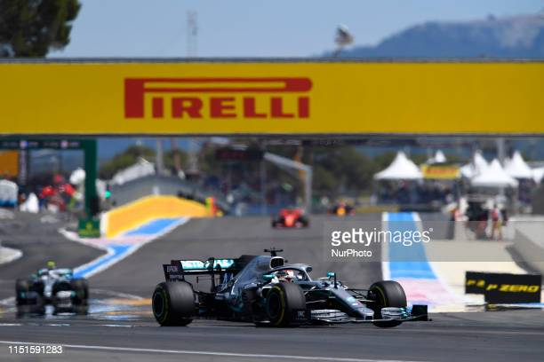 Lewis Hamilton of Great Britain driving the Mercedes AMG Petronas F1 Team Mercedes W10 during the Pirelli GP de France 2019 at Circuit Paul Ricard on...
