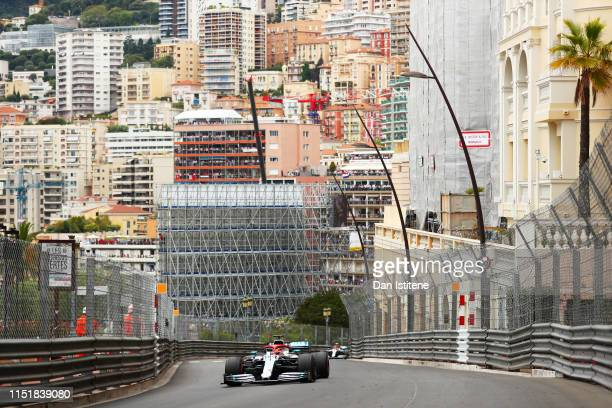 Lewis Hamilton of Great Britain driving the Mercedes AMG Petronas F1 Team Mercedes W10 on track during the F1 Grand Prix of Monaco at Circuit de...