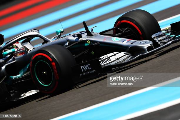Lewis Hamilton of Great Britain driving the Mercedes AMG Petronas F1 Team Mercedes W10 on track during final practice for the F1 Grand Prix of France...