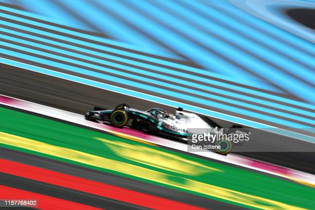 Lewis Hamilton of Great Britain driving the Mercedes AMG Petronas F1 Team Mercedes W10 on track during the F1 Grand Prix of France at Circuit Paul...