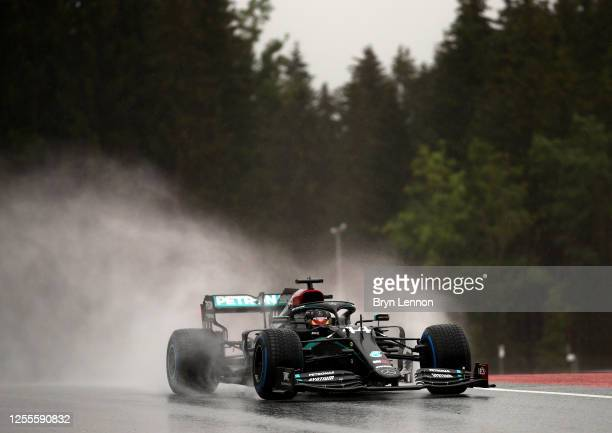 Lewis Hamilton of Great Britain driving the Mercedes AMG Petronas F1 Team Mercedes W11 on track during qualifying for the Formula One Grand Prix of...