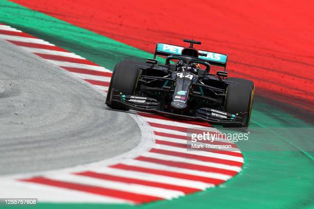 Lewis Hamilton of Great Britain driving the Mercedes AMG Petronas F1 Team Mercedes W11 on track during the Formula One Grand Prix of Styria at Red...