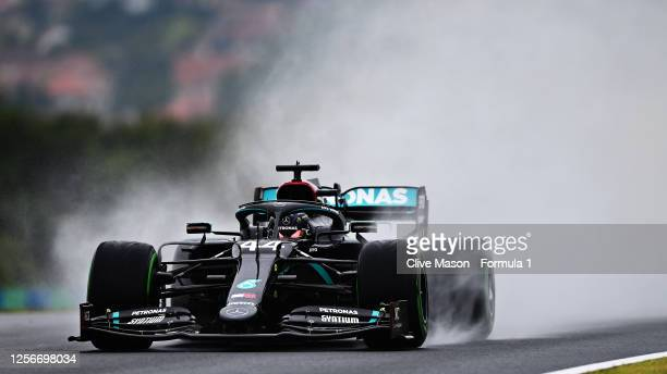 Lewis Hamilton of Great Britain driving the Mercedes AMG Petronas F1 Team Mercedes W11 during practice for the F1 Grand Prix of Hungary at...
