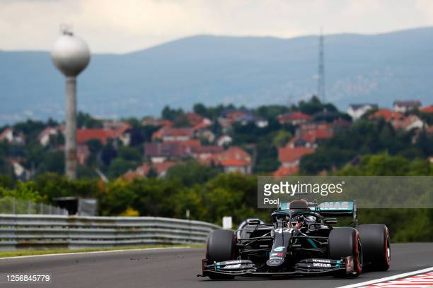 Lewis Hamilton of Great Britain driving the Mercedes AMG Petronas F1 Team Mercedes W11 on track during final practice for the F1 Grand Prix of...